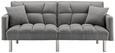 Sofa Jara mit Schlaffunktion inkl. Kissen - Chromfarben/Hellgrau, MODERN, Holz/Textil (195/82/87cm) - Mömax modern living