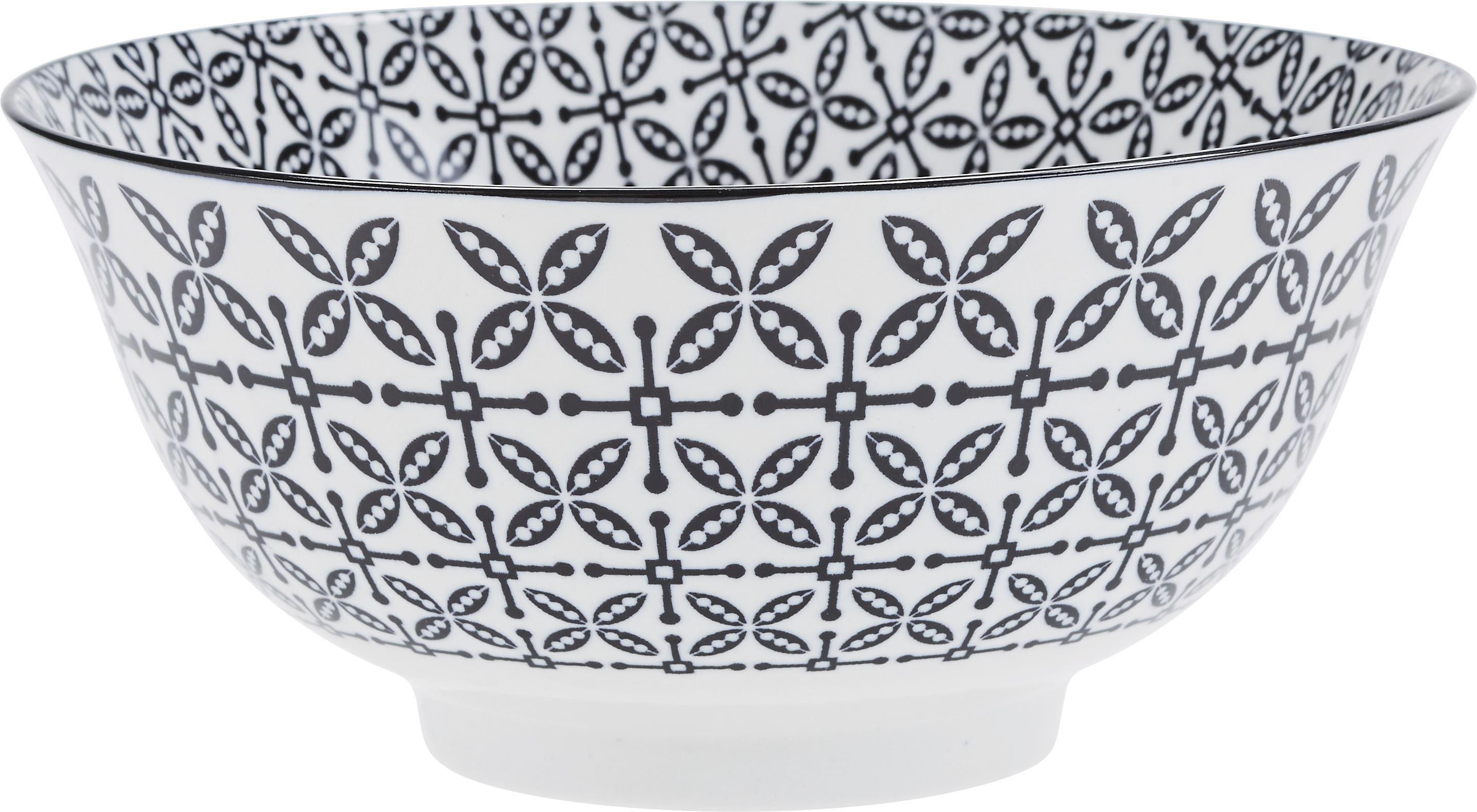 Schüssel Shiva in verschiedenen Motiven - Schwarz/Weiß, LIFESTYLE, Keramik (21/8cm) - MÖMAX modern living