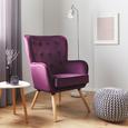 Sessel Cooper - Beere, MODERN, Holz/Textil (69/95/76cm) - Modern Living