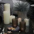Sveča Ruth   - Rustik -top- - siva/zelena, Romantika (10/10cm) - Mömax modern living
