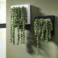 Wanddeko Hannah Grün - Weiß/Grün, Kunststoff/Stein (19,5/19,5/13cm) - Mömax modern living