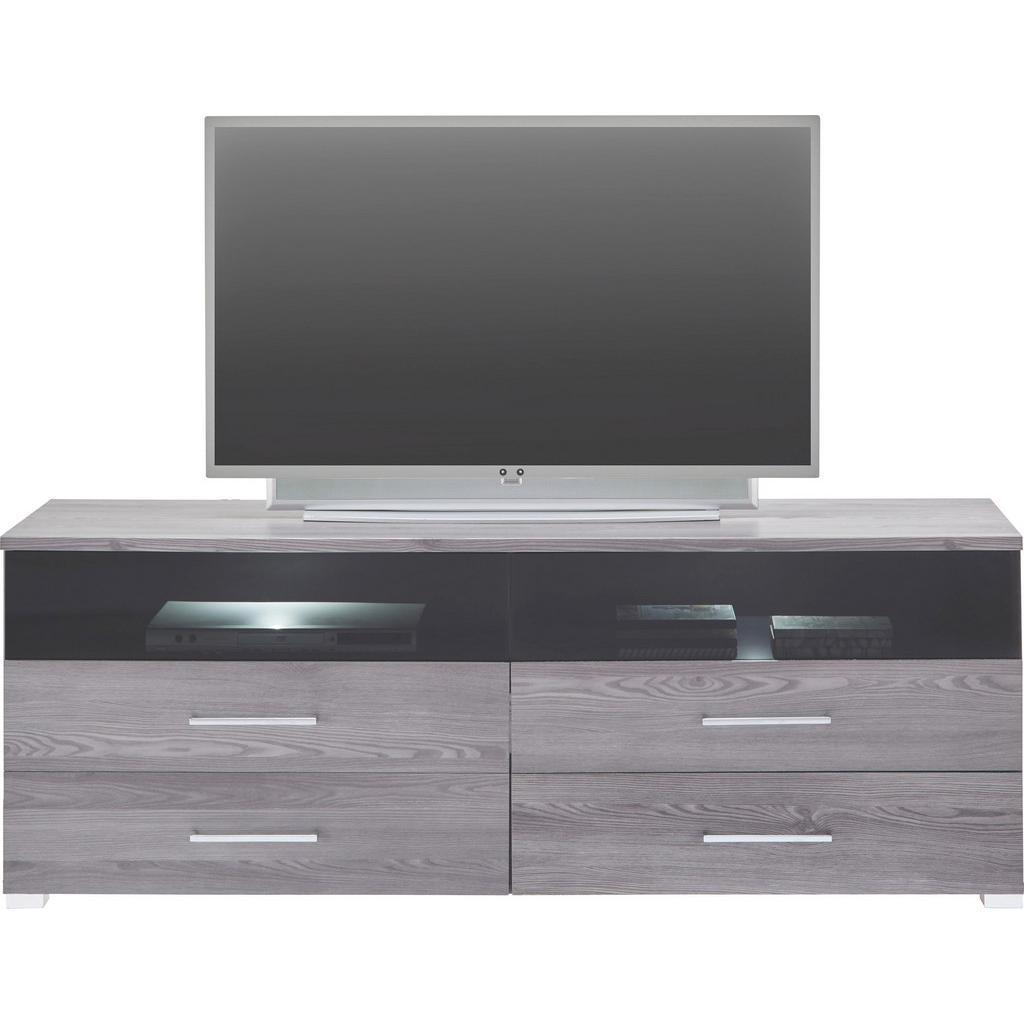 TV-Element In Lärchegrau Inkl Beleuchtung