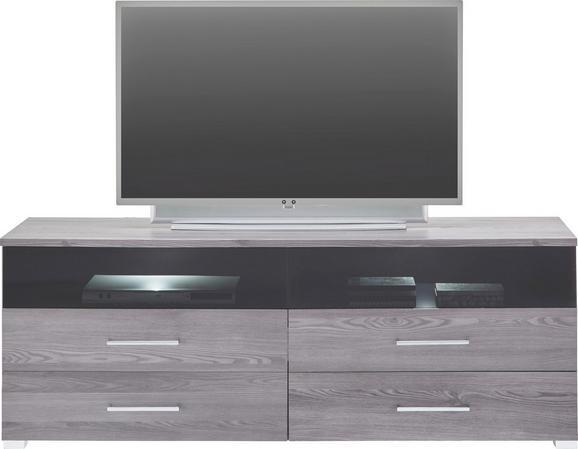 TV-Element Lärchegrau - Chromfarben/Silberfarben, MODERN, Holzwerkstoff/Kunststoff (160/59/45cm) - premium living