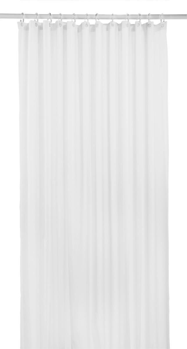 Duschvorhang Uni in Weiß, ca. 180x200cm - Weiß, Textil (180/200cm) - MÖMAX modern living