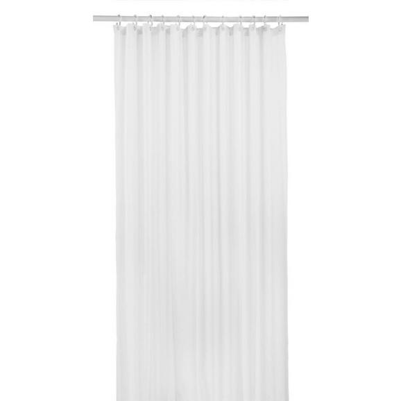 Zuhanyfüggöny Uni - Fehér, Textil (180/200cm) - Mömax modern living