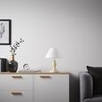 Tischleuchte Claire - Weiß/Nickelfarben, ROMANTIK / LANDHAUS, Holz/Textil (28/36cm) - Mömax modern living