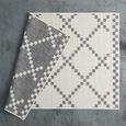 Flachwebeteppich Edgar Creme 100x150cm - Silberfarben/Creme, MODERN, Textil (100/150cm) - Mömax modern living