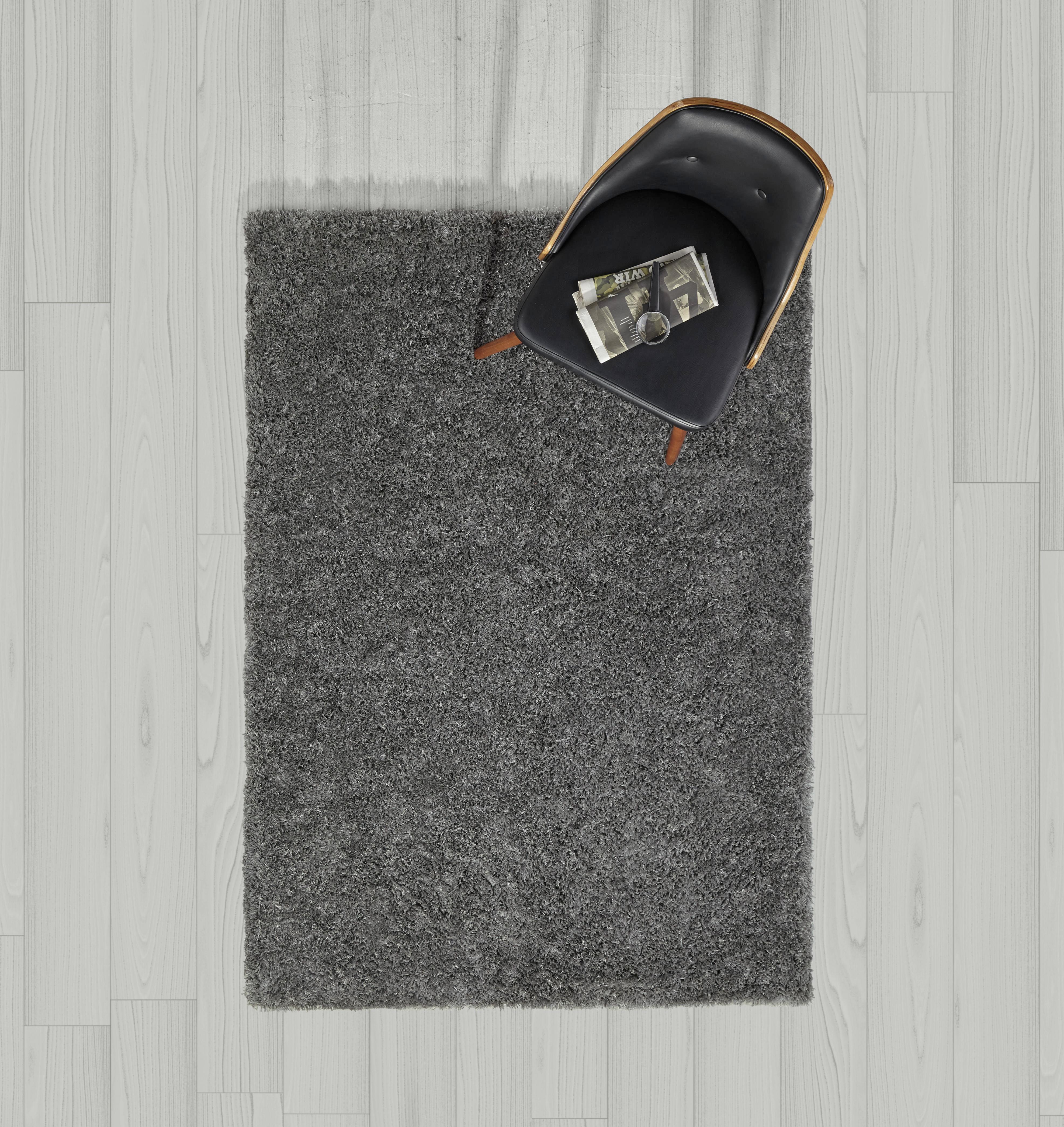 Hochflorteppich Shaggy 120x170cm - Dunkelgrau, MODERN, Textil (120/170cm) - MÖMAX modern living
