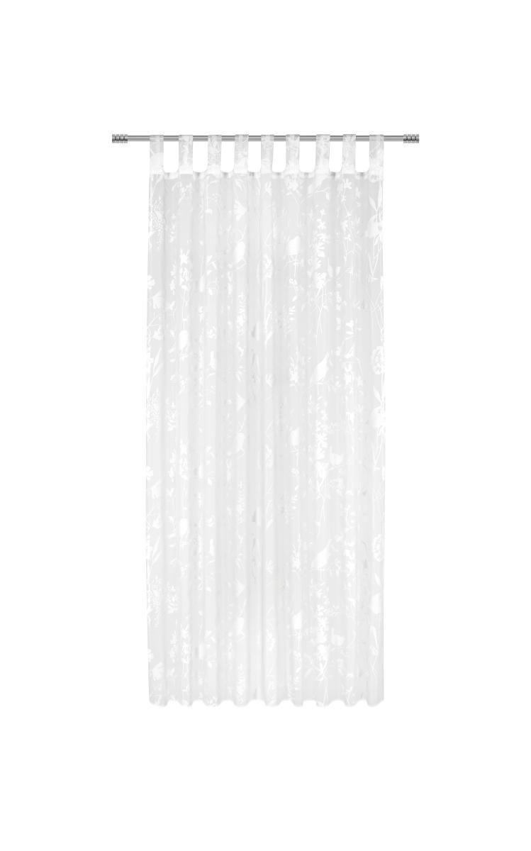Fertigvorhang Blume/vogel, ca. 135x245cm - Weiß, ROMANTIK / LANDHAUS, Textil (135/245cm) - MÖMAX modern living