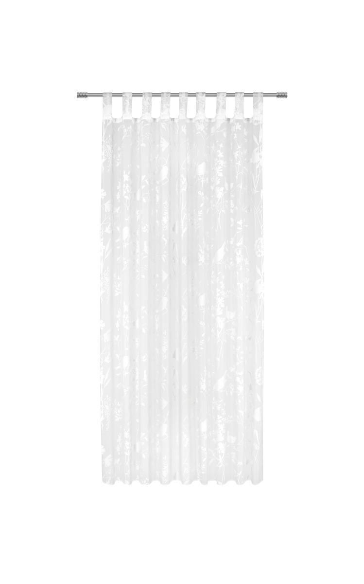 Készfüggöny Blume/vogel - fehér, romantikus/Landhaus, textil (135/245cm) - MÖMAX modern living