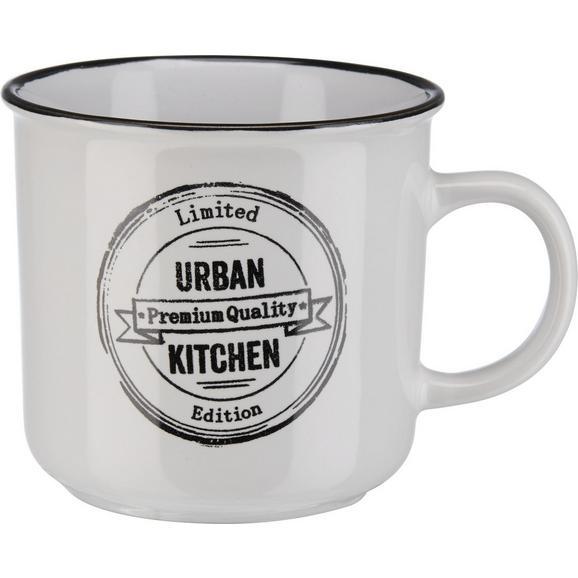 Kaffeebecher Urban aus Steinzeug ca. 400ml - Schwarz/Weiß, LIFESTYLE, Keramik (9,8/9,2cm) - Mömax modern living