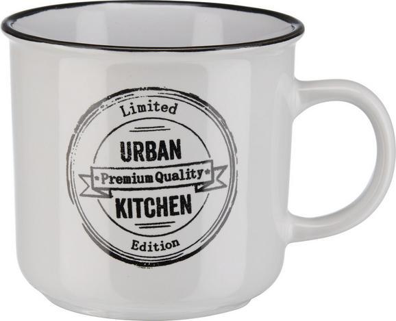 Kaffeebecher Urban in Schwarz/Weiß - Schwarz/Weiß, LIFESTYLE, Keramik (9,8/9,2cm) - MÖMAX modern living