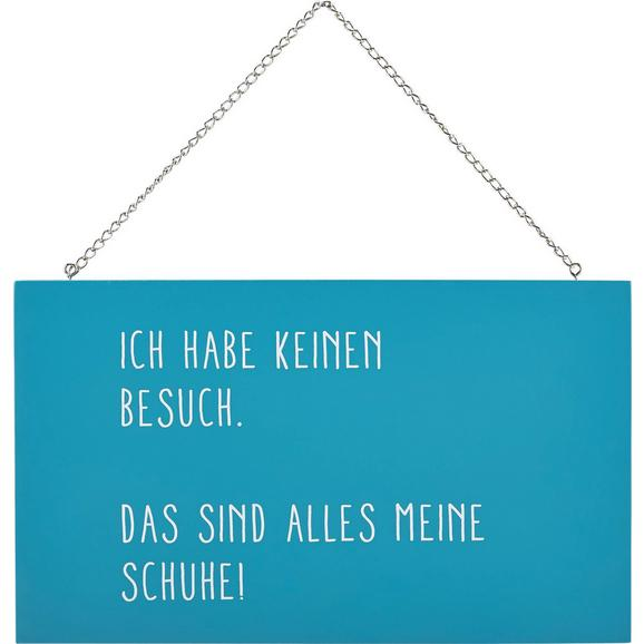 Dekoschild Reimi Blau/Weiß - Blau/Weiß, MODERN, Holzwerkstoff/Metall (23,2/13,5/0,5cm) - Mömax modern living