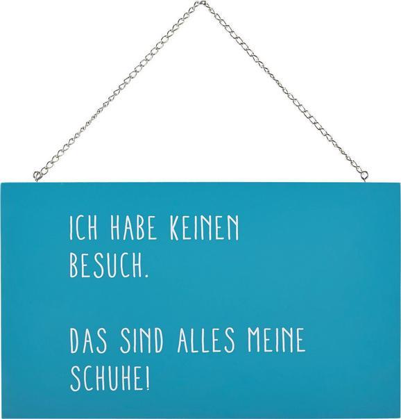 Dekoschild Reimi in Blau/Weiß - Blau/Weiß, MODERN, Holzwerkstoff/Metall (23/13,5/0,5cm) - Mömax modern living