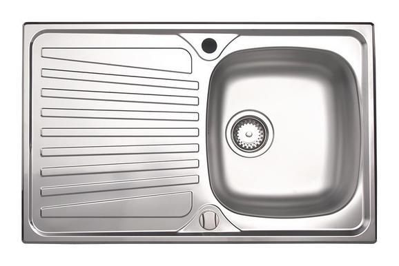 Spüle Montigo 1.0 - Edelstahlfarben, MODERN, Metall (79/50cm)