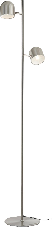 Stehleuchte Fokus - Nickelfarben, MODERN, Metall (32/23/140cm) - MÖMAX modern living