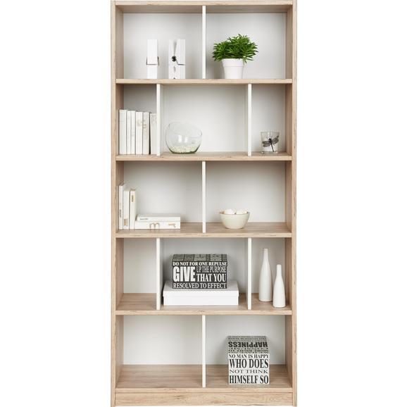Regal Weiß/Eichefarben - Eichefarben/Weiß, Holz/Holzwerkstoff (90/198/38cm) - Modern Living
