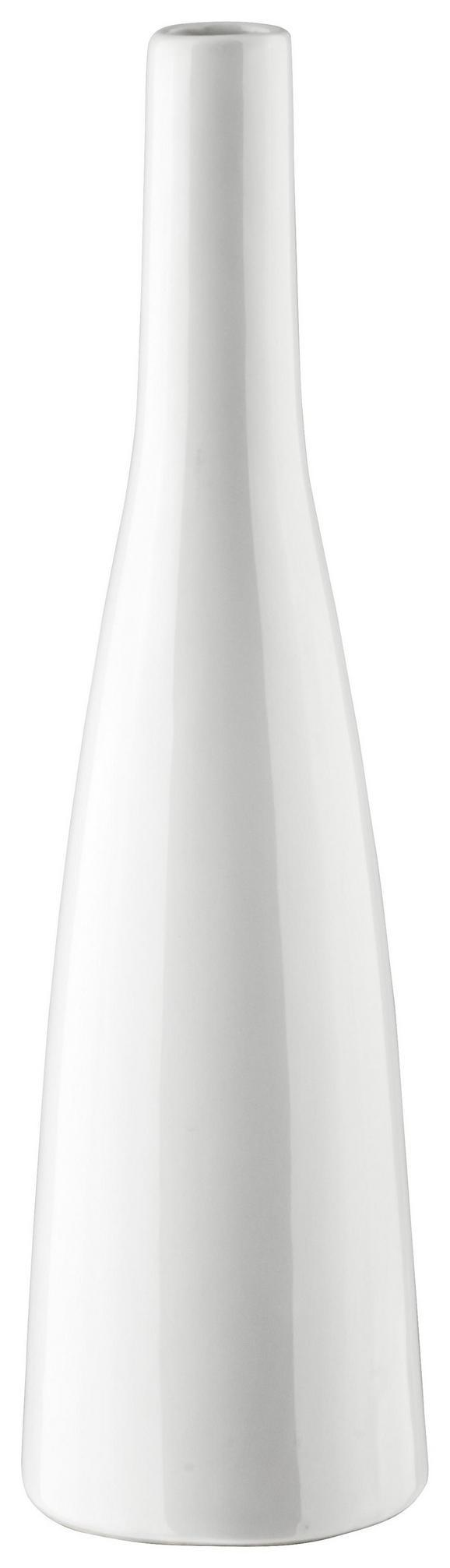 Vase Plancio in Weiß aus Glas - Weiß, MODERN, Keramik (33cm) - Mömax modern living