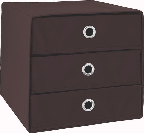 Container Braun - Braun, Karton/Textil (31,5/32,0/31,5cm)