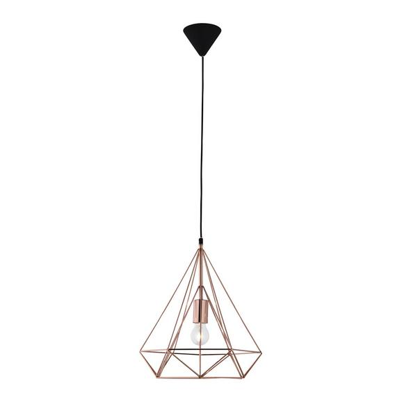 Pendelleuchte Yvonne - Goldfarben, MODERN, Kunststoff/Metall (36/150cm) - Bessagi Home