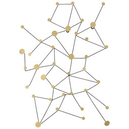 Wanddeko Stella ca. 64x92x10cm - Goldfarben, Metall (64/92/10cm) - Mömax modern living