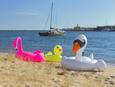 Schwimmtier Flamingo, ca. 155x107x198cm - Pink/Schwarz, Kunststoff (155/107/198cm) - Mömax modern living