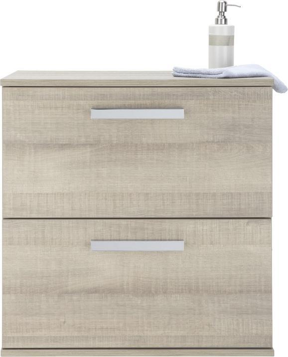 Spodnja Omarica Oslo - siva/krom, Moderno, kovina/leseni material (60,5/63/45cm)