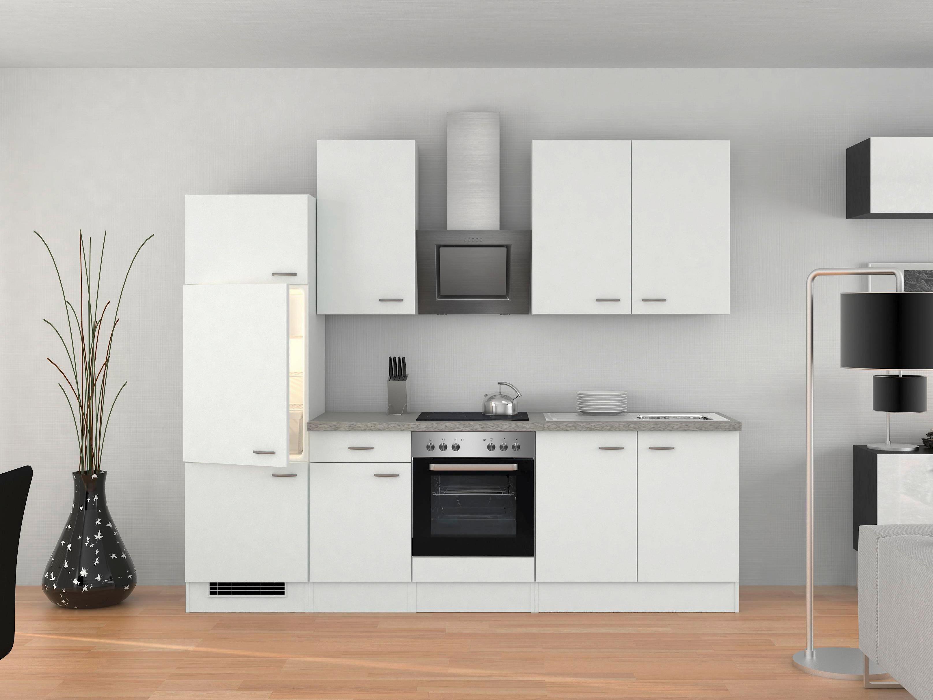 Küchenblock in Weiss inkl. Geräte und Spüle