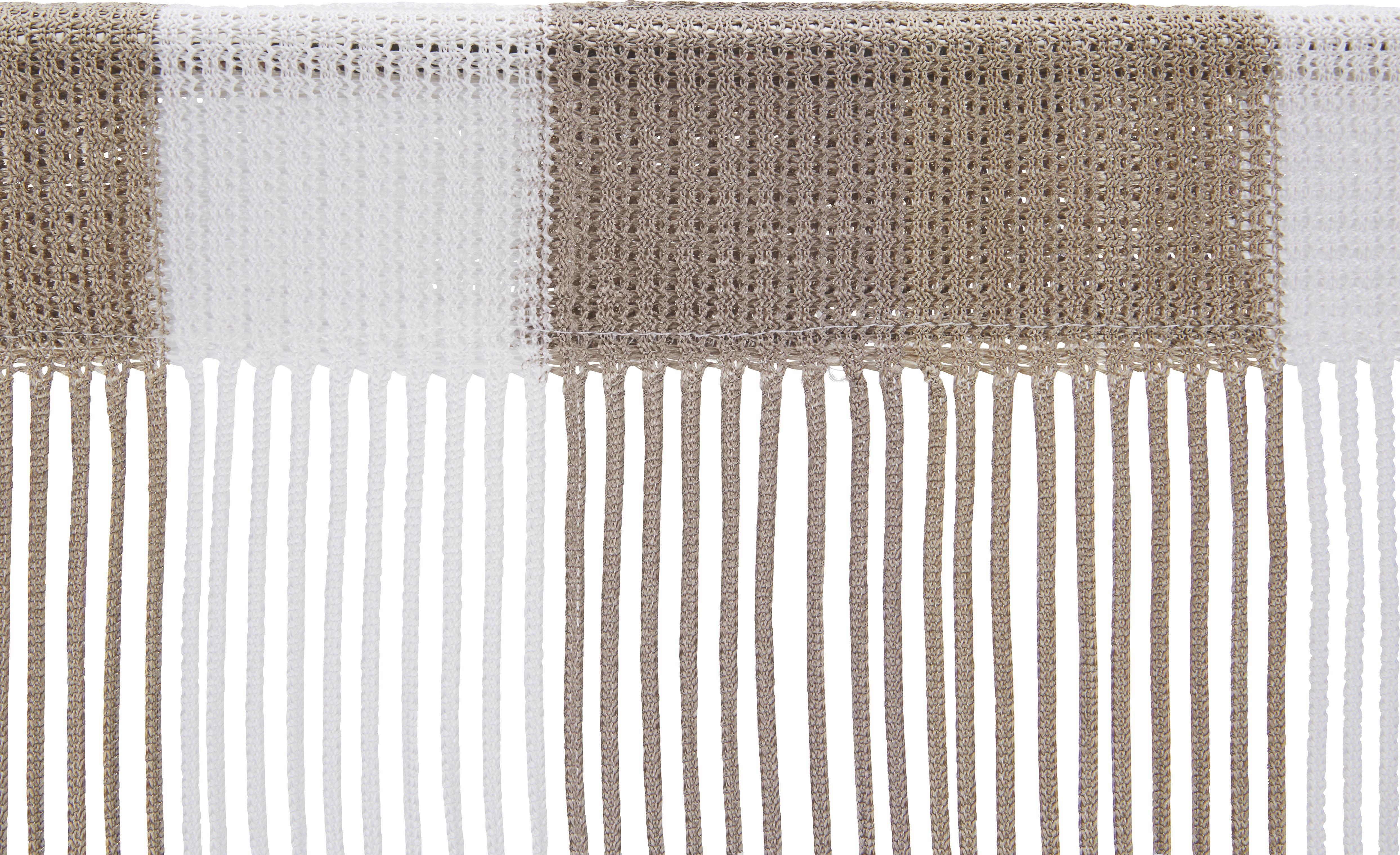 Zsinórfüggöny String - barna/fehér, textil (90/245cm) - premium living