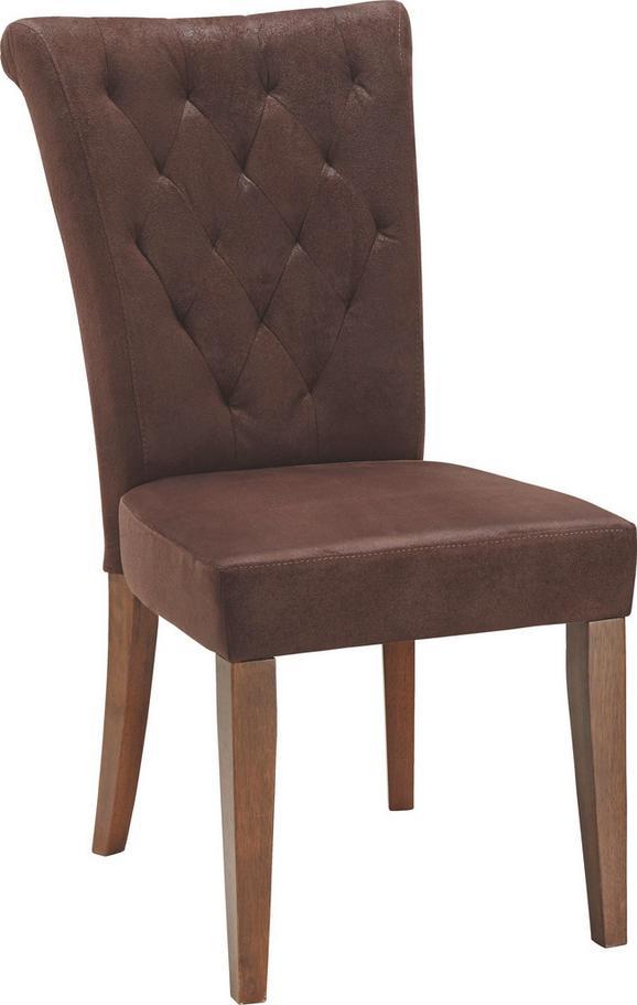 Stol Fredie - rjava, Romantika, tekstil/les (52/99/70,50cm) - Zandiara
