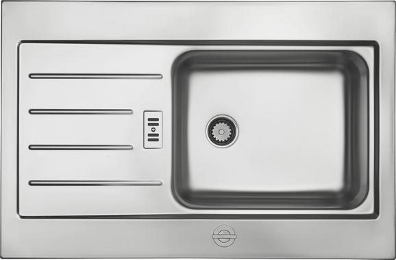 Spüle Waterstation Basic - Edelstahlfarben, MODERN, Metall (78/14/51cm)
