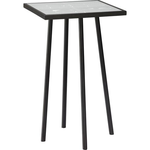 Beistelltisch in schwarz mit glas online kaufen m max for Beistelltisch glas schwarz