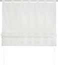 Bändchenrollo Nina ca. 100x140cm - Weiß, Textil (100/140cm) - Mömax modern living