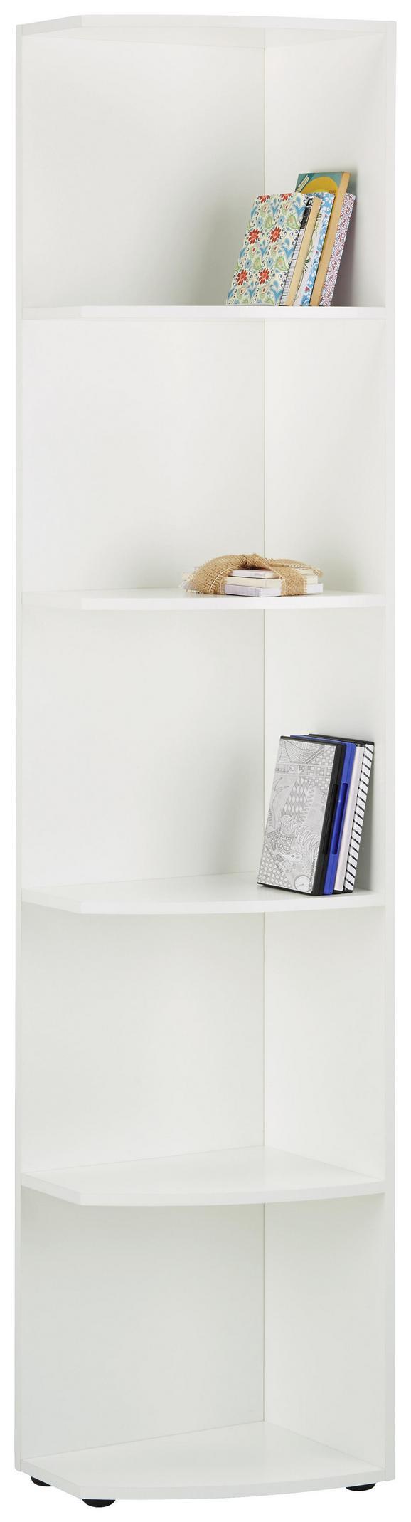 Abschlussregal Weiß - Weiß, Holzwerkstoff (30/185/38cm) - Mömax modern living