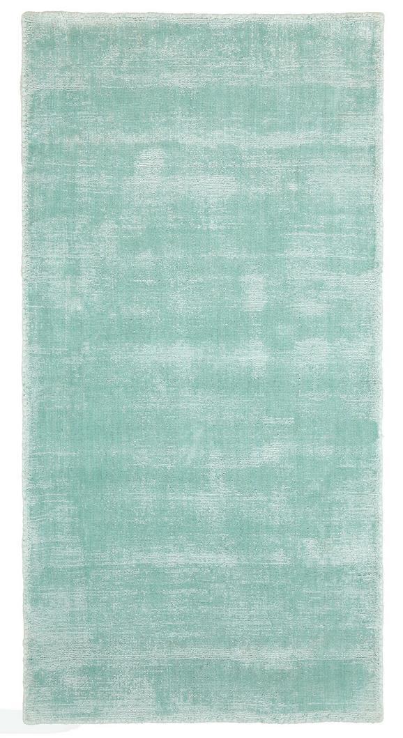 Webteppich Andrea in Mint, ca. 70x140cm - Mintgrün, Textil (70/140cm) - Mömax modern living