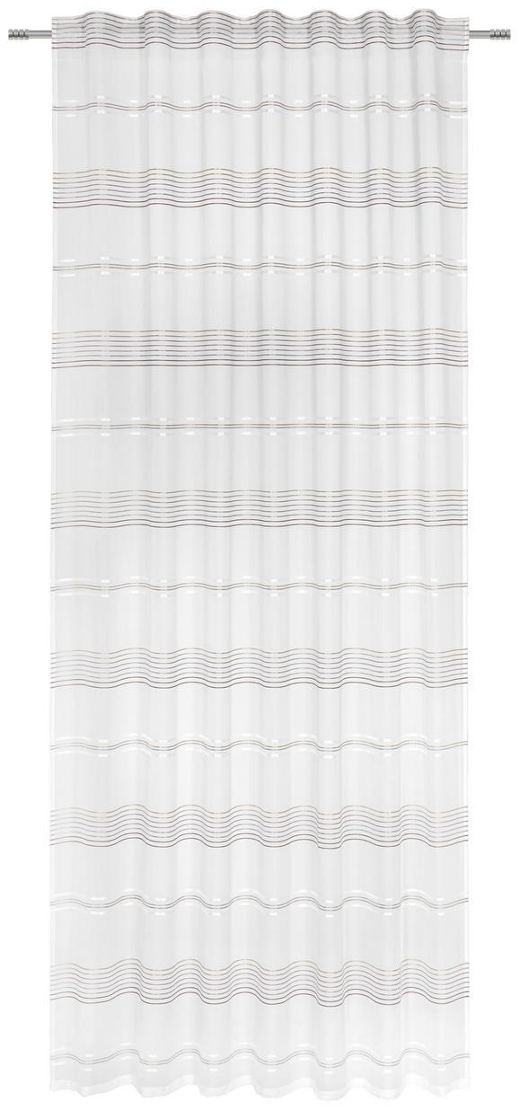 Končana Zavesa Louis - bela/rjava, Konvencionalno, tekstil (140/245cm) - Mömax modern living