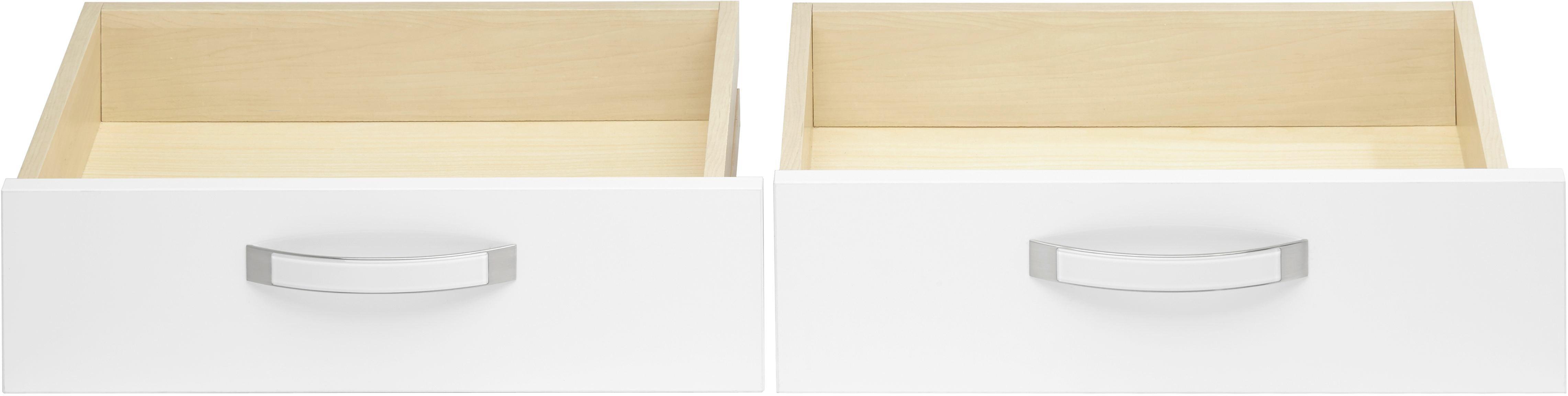 Schubkasteneinsatz in Weiß Hochglanz - Weiß, MODERN, Holz/Kunststoff (56.6/34.9/36.5cm) - PREMIUM LIVING