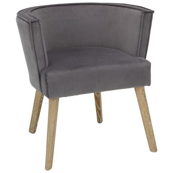 Stuhl Grau/Naturfarben - Naturfarben/Grau, MODERN, Holz/Textil (71/64/74cm) - Premium Living