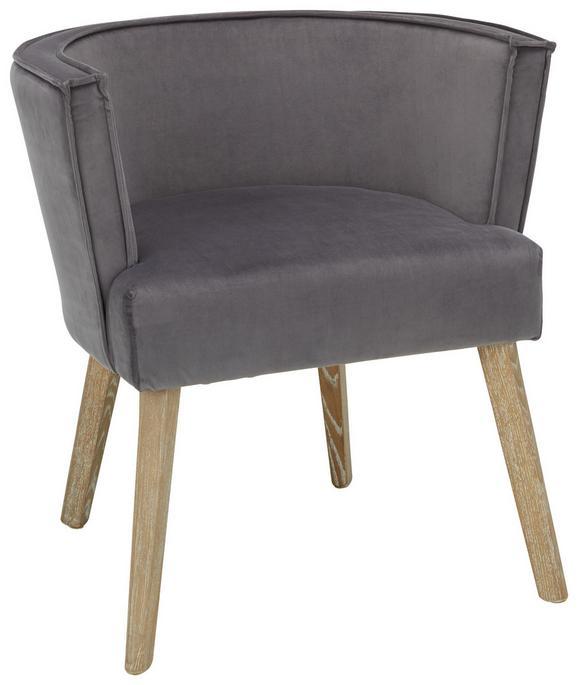 Stuhl in Grau/Naturfarben - Naturfarben/Grau, MODERN, Holz/Textil (71/64/74cm) - PREMIUM LIVING