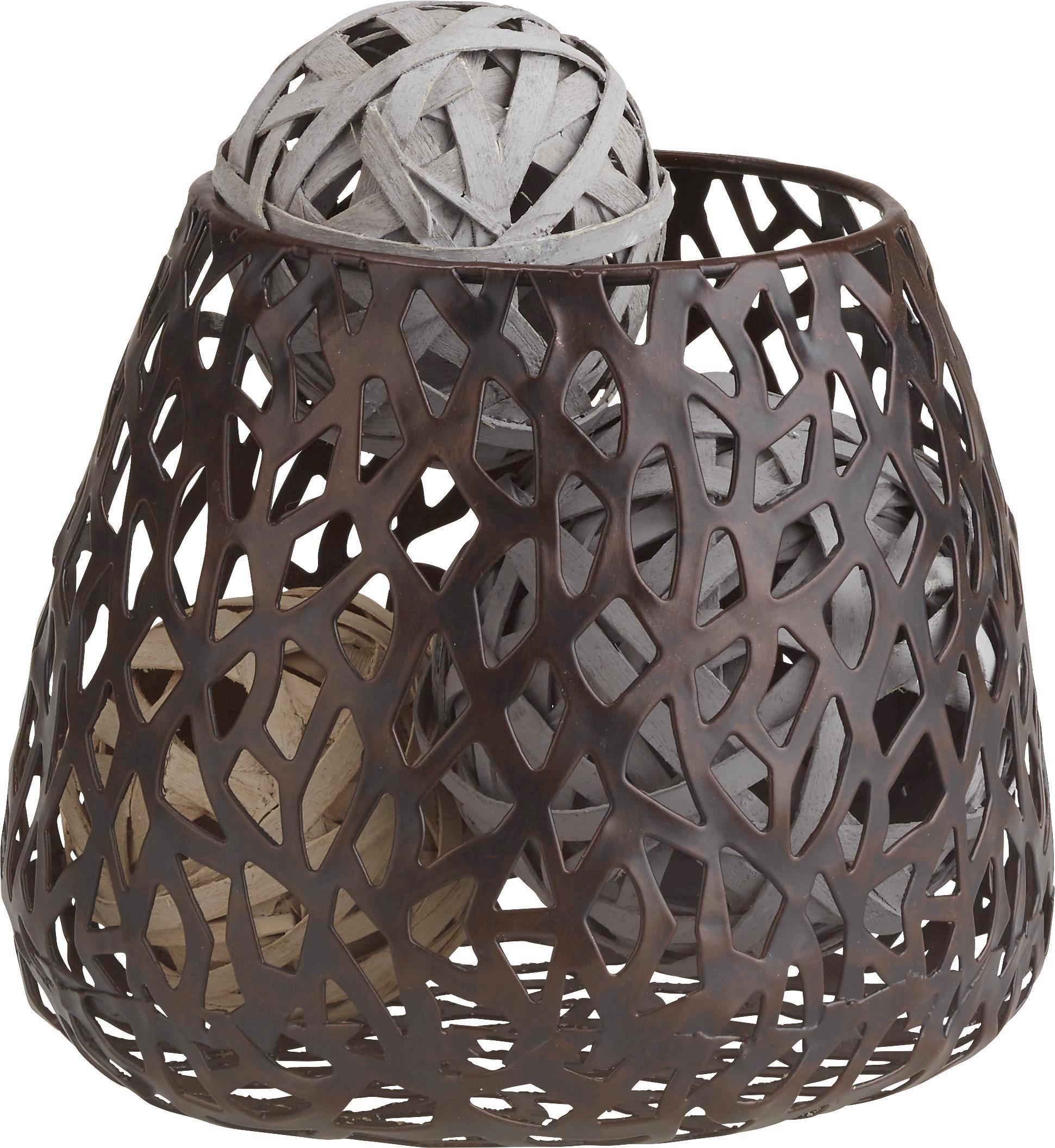 Lámpás Frederike - sötétbarna, Lifestyle, fém (14/11cm) - MÖMAX modern living
