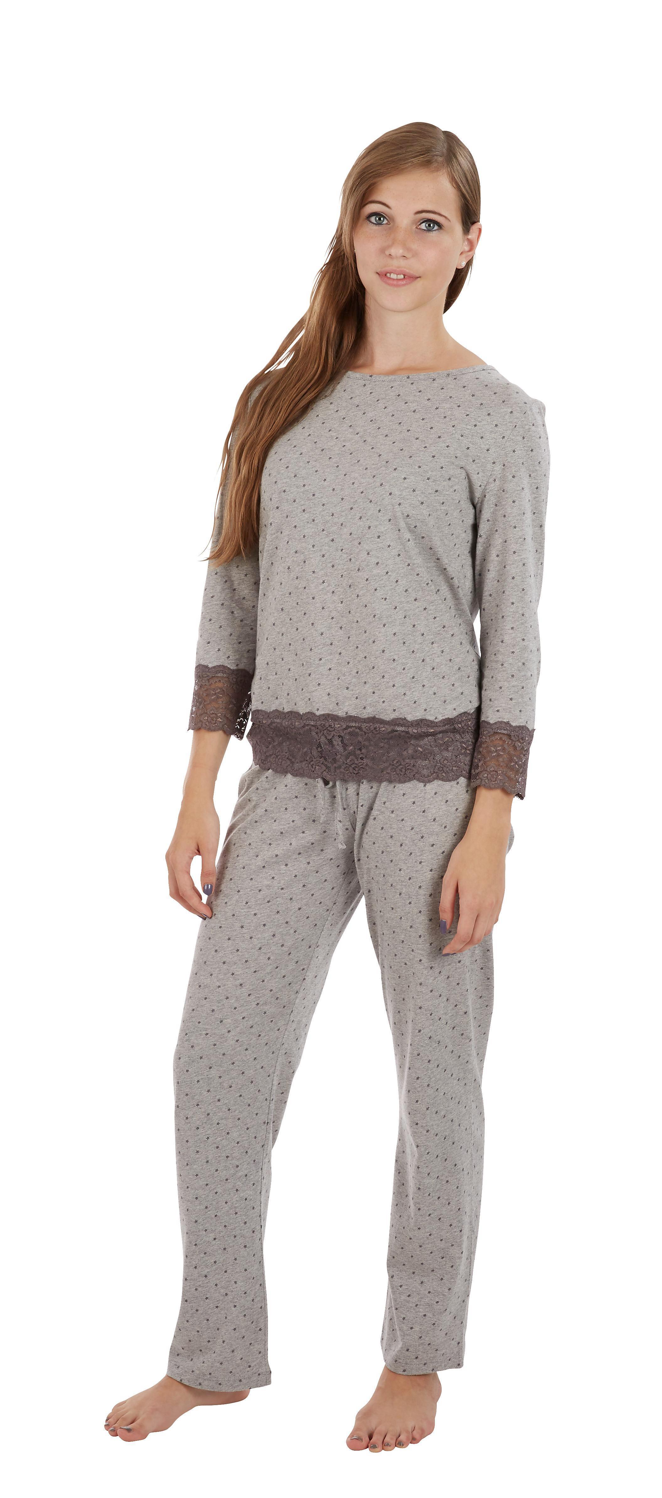 Schlafanzug in Grau,  M/L - Grau, MODERN, Textil - MÖMAX modern living