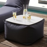 Sitzwürfel Daphne - Grau, MODERN, Textil (60/40/60cm)