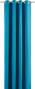 Ösenvorhang Ulli in Petrol, ca. 140x245cm - Petrol, Textil (140/245cm) - Mömax modern living