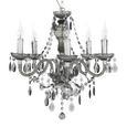 Függőlámpa Isabella - Króm/Átlátszó, romantikus/Landhaus, Műanyag/Fém (149cm) - Mömax modern living
