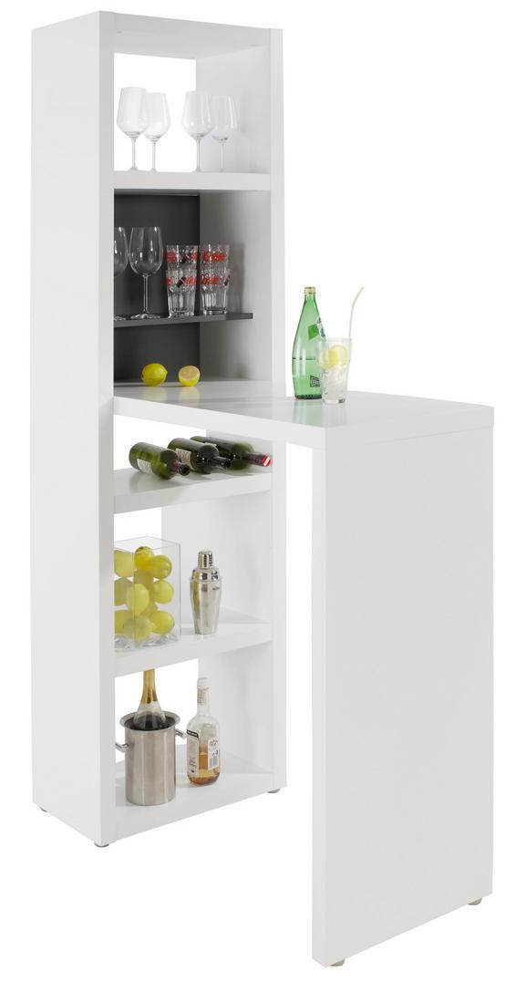 Bartisch Weiß/Graphitfarben - Graphitfarben/Weiß, MODERN, Holzwerkstoff (59/202/115cm) - Mömax modern living