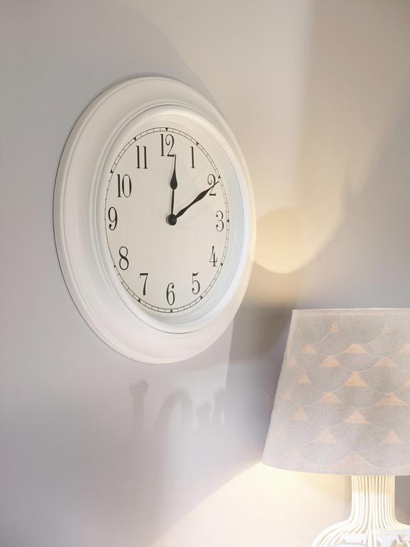 Falióra Ivy - Fehér/Fekete, romantikus/Landhaus, Műanyag/Üveg (45.5cm) - MÖMAX modern living