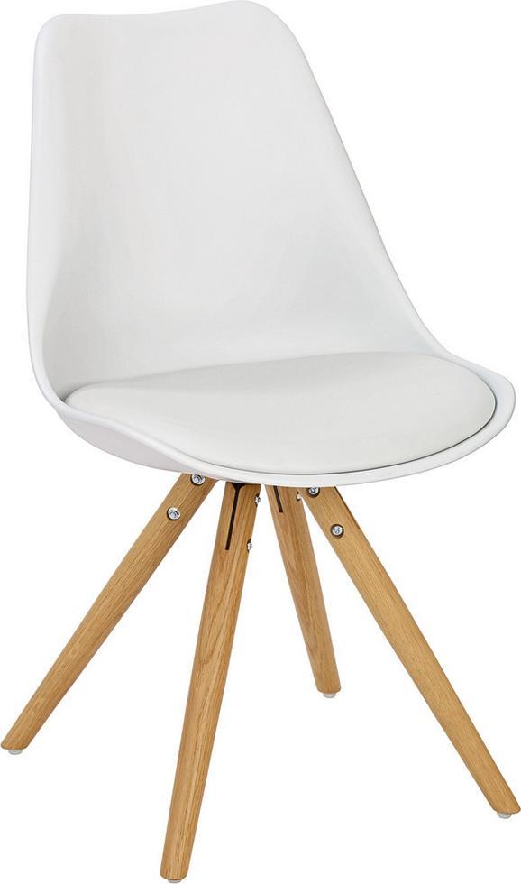 Stol Lilly - bela/hrast, Moderno, umetna masa/les (47/81/52cm) - Mömax modern living