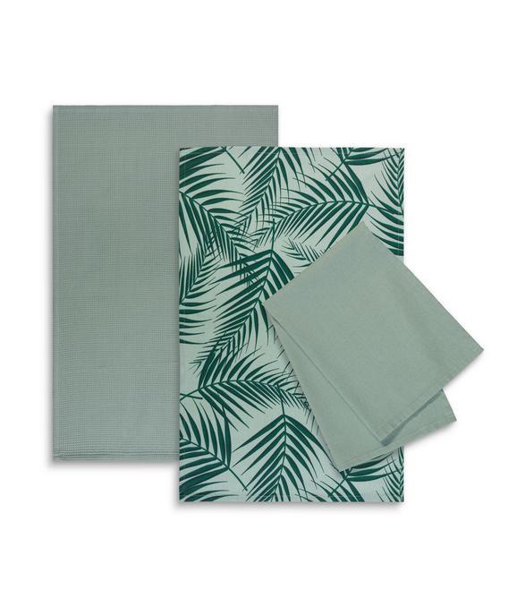 Geschirrtuch-Set Lenara Grün - Grün, Textil (50/70cm) - Mömax modern living