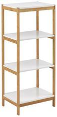 Badezimmerregal Mirella - Buchefarben/Weiß, MODERN, Holz (30/95/30cm) - Modern Living