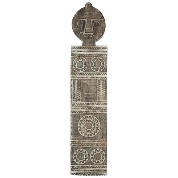 Stenska Dekoracija Wayan - naravna/bela, les (22/3/95cm) - Zandiara